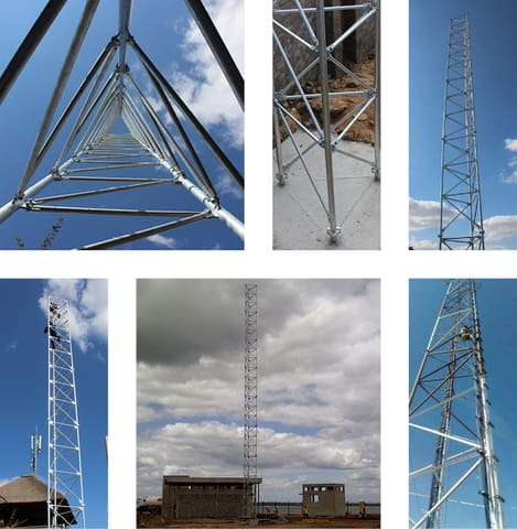 Free Standing Lattice Tower or Mast