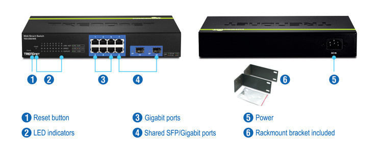 Trendnet 8-Port Gigabit Websmart Switchw