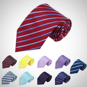New Classic Striped Jacquard Men's Tie.