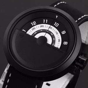 Bonnethead Shark Sport Watch Black White Rotate Turntable Dial.