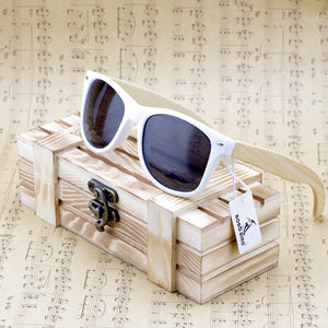 Bobo bird Rectangular Bamboo Wood, Polarized Sunglasses