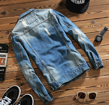 Men's Denim Jacket for spring and Autumn