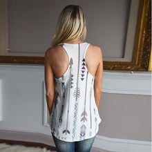 Tank Tops Arrow Printing, Sleeveless Blouses