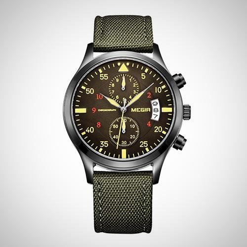 Men's Wrist Watch, Quartz, Military look