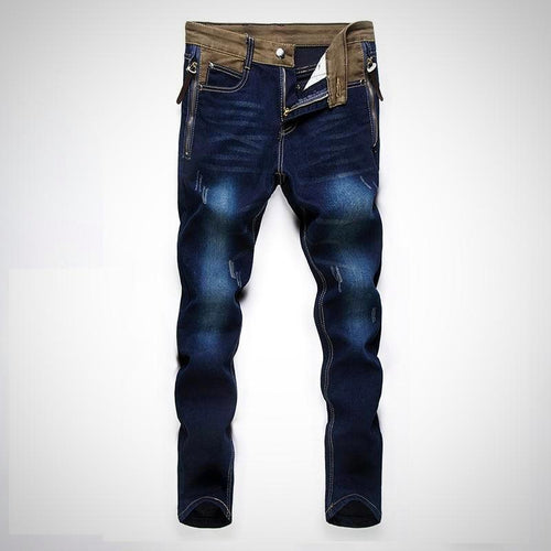 Stone Wash Denim Jeans Big Size