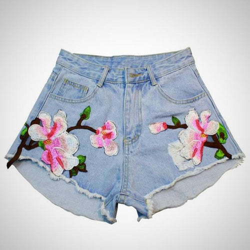 Floral decorated Wide Shorts with high Waist