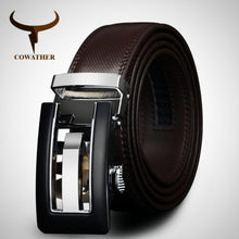 Genuine Leather Belt for Men, automatic buckle Strap.
