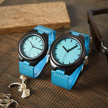 Bobo Bird Handmade Bamboo Watches for Couples.