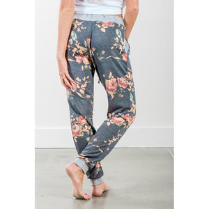 Sweat Pants Women, Floral Printed