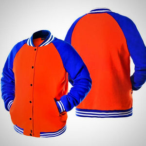 Solid color single breasted Baseball Jacket, unisex