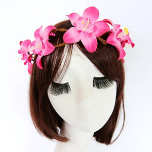 Ladies Elegant Flower Headband 4 Colors