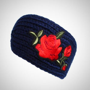 Rose Flowers Embroidery Headbands