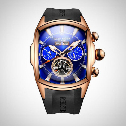 Reef Tiger,  Tourbillon Analog Automatic Watch for Men