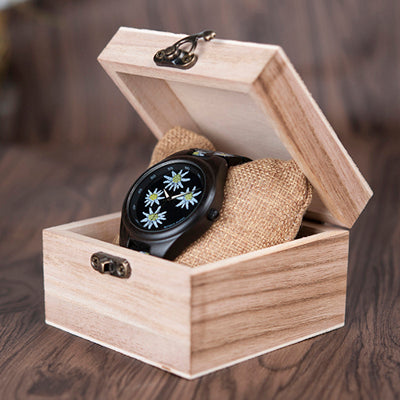 Bobo Bird Wooden Watch, limited Flower edition