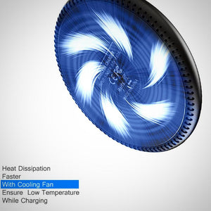 Cooling Wireless Quik Charger with Heat Dissipation Fan for Andriod and IOS