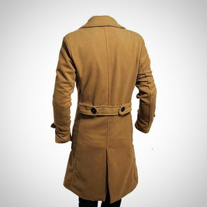 Men's Business Trench. Long Coat Slim Fit.