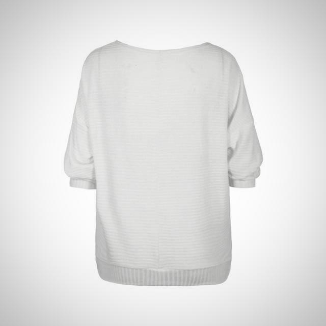 Slash Neck Knitted Sweater