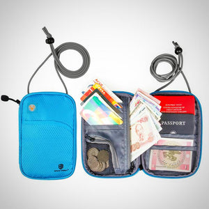 Travel Neck Passport Cover, ID Card Holder, Cash Wallet, Organizer Bag