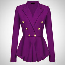 Casual Jacket Long Sleeve Double-breasted Suit Lady Blazer