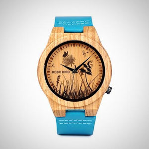 Bobo Bird Simple Bamboo Watches with decorative Prints