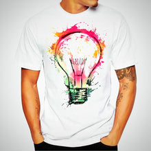 Colorfull Lightbulp printed Shirt, short Sleeve