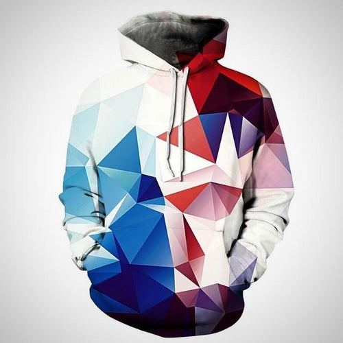 Hooded sweatshirt, Colorful combination print Unisex