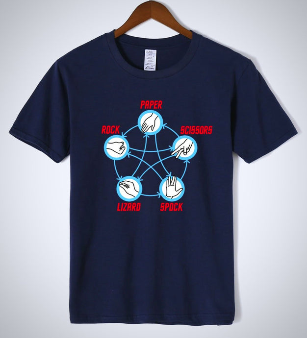 Big Bang Theory Rock Paper Scissors funny T-Shirt