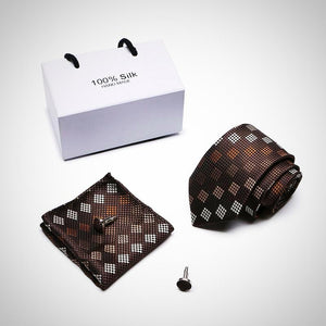 Tie, Handkerchief and Cufflinks Gift Box Packing