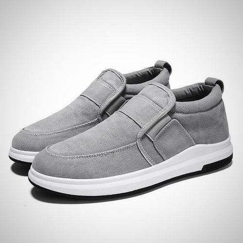 Men Canvas Slip-on Sneakers, Breathable and Comfortable