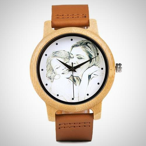 Laser Printing Customizable Wooden Watch.