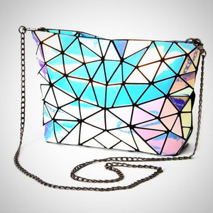 Holographic Tote Chain Shoulder Bag