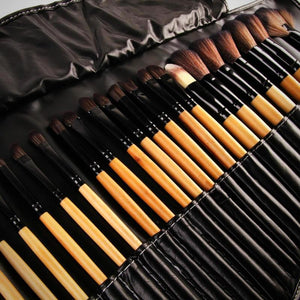 32Pcs Makeup Brush Set with Leather Case
