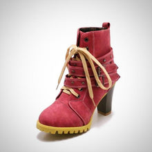 Women Rivet Lace-Up Winter Boots