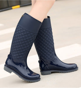 Rain Boots Rubber Platform Knee-High, Women Boots