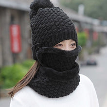Women's Knitted Hat and Scarf Two Pieces Set