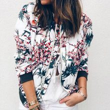 Womens Retro Zip Up Bomber Jacket