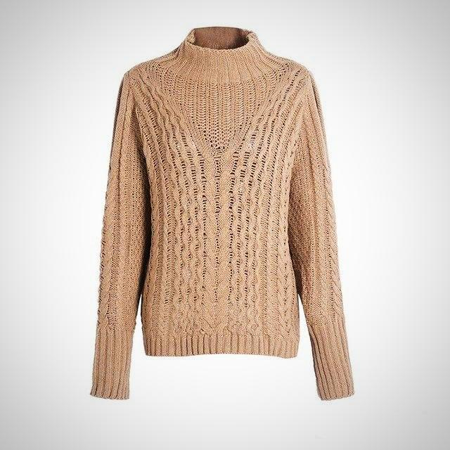 Casual warm autumn winter sweater.