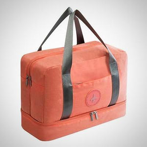 Waterproof Travel Bag, Large Capacity and Separated Shoe Compartment.
