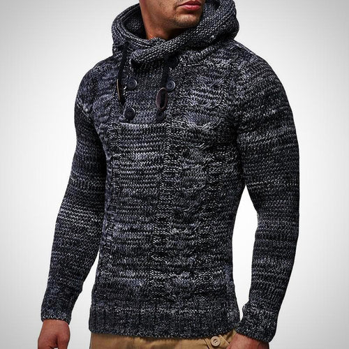Casual Turtleneck , Hooded Pullover