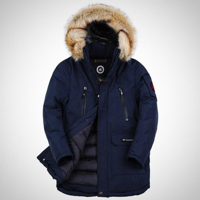 High Quality Men's Long Parka. Winter Coat with Artifical Fur