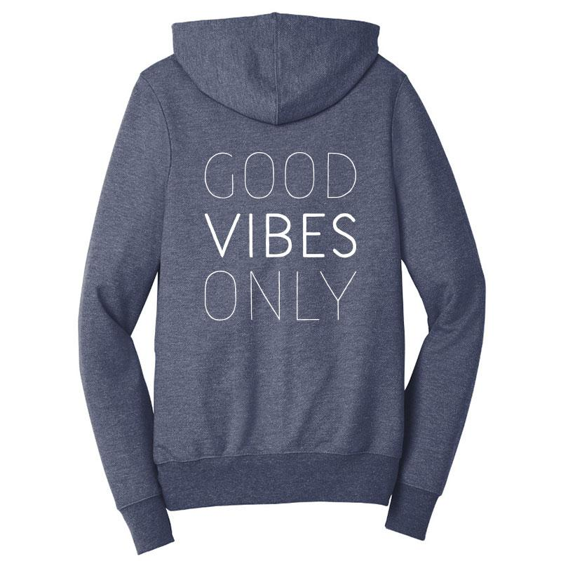 Good Vibes Only Zip-Up