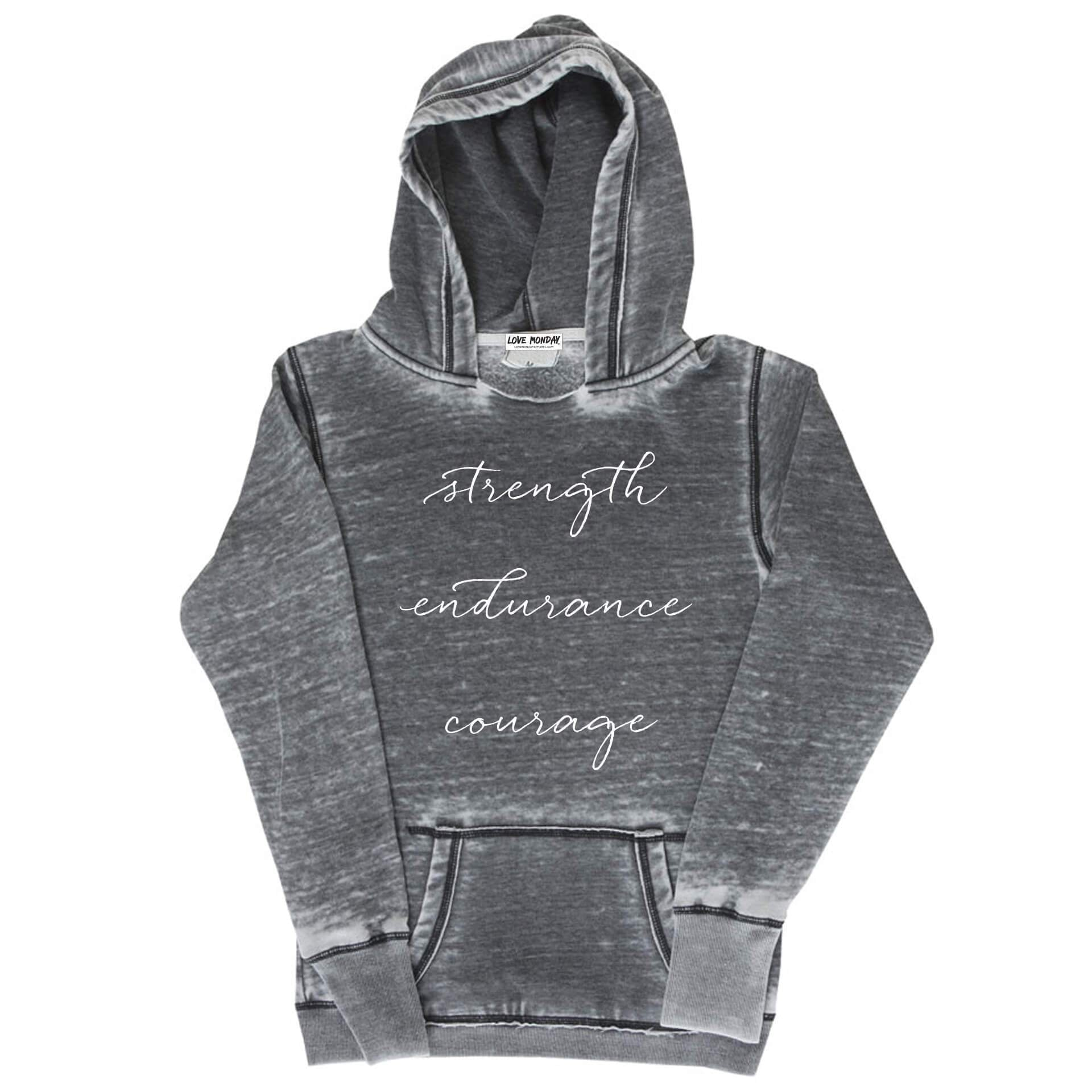 Strength Endurance Courage Hoodie