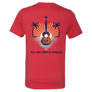 All You Need is Ukulele T-Shirt - Heather Red