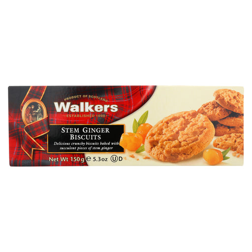 Walkers Shortbread Biscuits - Stem Ginger and Chocolate - Case of 12 - 5.3 oz.
