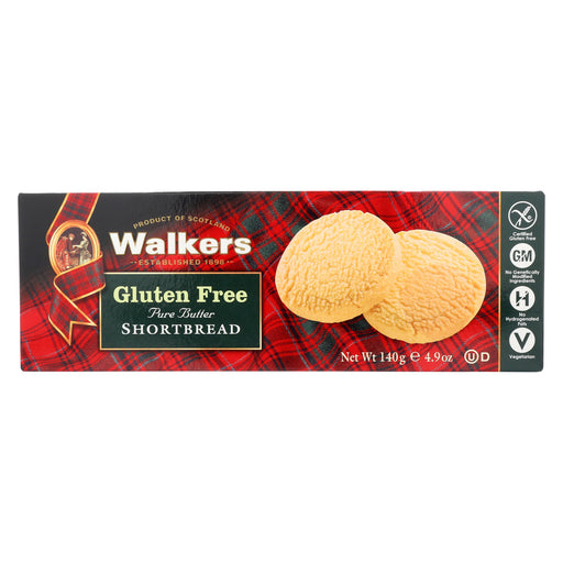 Walkers Shortbread Short Bread Cookies - Round - Case of 6 - 4.9 oz.