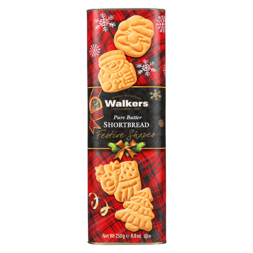 Walkers Shortbread Festive Drums - Pure Butter - Case of 12 - 8.8 oz.