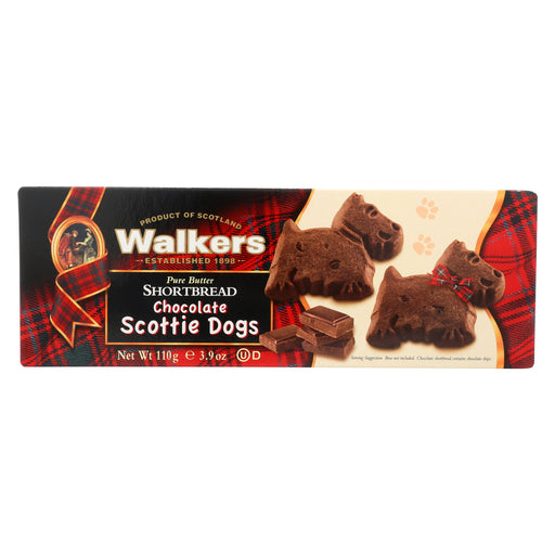 Walkers Shortbread - Chocolate, Scottie Dogs - Case of 12 - 3.9 oz.