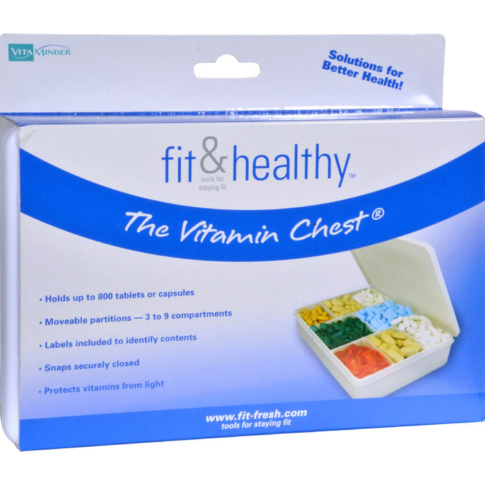 Fit and Healthy Vitamin Chest Organizer - 1 Unit