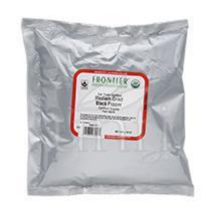 Frontier Herb Pepper - Organic - Fair Trade Certified - Black - Medium Grind - Bulk - 1 lb