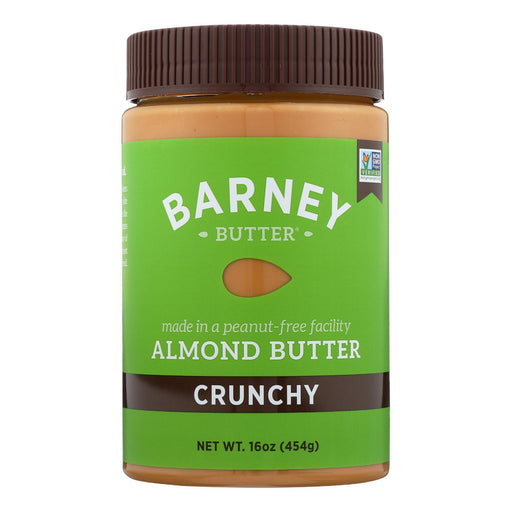Barney Butter Almond Butter - Crunchy - Case Of 6 - 16 Oz.